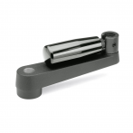 GN471.3-Cranked_Handle_with_Retractable_Handle__Aluminium_Black_Plastic_Coated.png