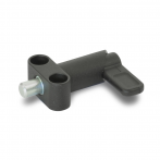 GN612.9-Cam_Action_Indexing_Plunger_with_Flange_for_Surface_Mounting__Steel_Black_Plastic_Coated_with_Zinc_Plated__Blue_Passivated_Plunger.png