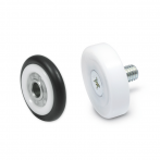 GN753-Guide_Rollers__Outer_Plastic_Black___White_with_Steel_Inner_Ring___Outer_White_Plastic_with_Steel_Zinc_Plated_Threaded_Stud.png