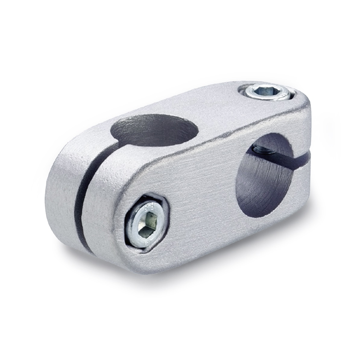Two-way Connector Clamps GN131, Aluminium, Optional Plastic Coating